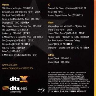 BD50-3D DTS 2015DTS演示碟 19版 3D、5.1、7.1声道测试 129-056