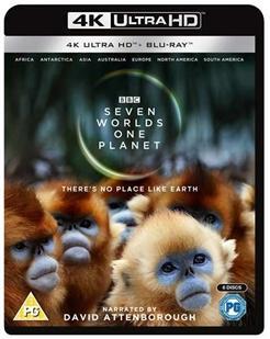 4K-UHD 七个世界 一个星球 三碟装 杜比全景声 BBC再次带来年度高分纪录片神作 豆瓣评分9.8